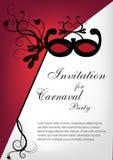 Carnaval Partyjny zaproszenie Obrazy Stock