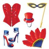 Carnaval-pictogrammen Royalty-vrije Stock Fotografie