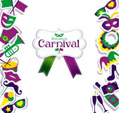 Carnaval-Pictogrammen Stock Afbeeldingen