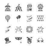 Carnaval-pictogramreeks vector illustratie