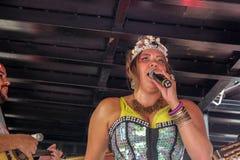 Carnaval populaire brésilien de rue avec la musique de samba Photographie stock