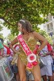 Carnaval populaire brésilien de rue avec la musique de samba Image libre de droits