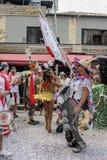 Carnaval populaire brésilien de rue avec la musique de samba Photos stock