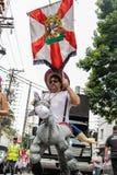 Carnaval populaire brésilien de rue avec la musique de samba Images libres de droits