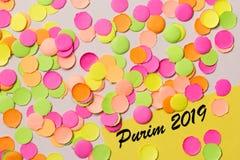 Carnaval przyjęcia tła pojęcie Przestrzeń dla teksta, copyspace Purim 2019 fotografia royalty free