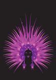 Carnaval queen purple Stock Image