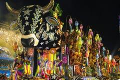 CARNAVAL RIO DE JANEIRO - FEBRUARY20: Imagem de Stock Royalty Free
