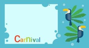 Carnaval Rio Holiday Party Celebration Banner colorido del Brasil Fotos de archivo
