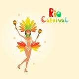 Carnaval Rio Holiday Party Celebration colorido del Brasil Fotografía de archivo libre de regalías