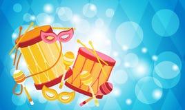 Carnaval Rio Holiday Party Celebration colorido del Brasil Imagen de archivo