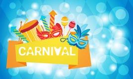 Carnaval Rio Holiday Party Celebration colorido del Brasil Fotografía de archivo