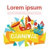 Carnaval Rio Holiday Party Celebration colorido del Brasil Foto de archivo