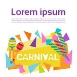 Carnaval Rio Holiday Party Celebration colorido del Brasil Imagenes de archivo