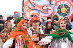 Carnaval russe (Maslenitsa) 2011, Moscou Images stock