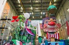 Carnaval 's van Viareggio begin, Toscanië Stock Foto's