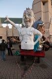 Carnaval 's van Viareggio begin, Toscanië Stock Afbeeldingen