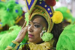 Carnaval - Samba School-parade stock afbeelding