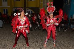 Carnaval Sao Nicolau, Kaapverdië Stock Afbeeldingen