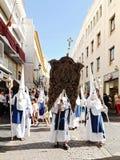 Carnaval Semana Santa da Páscoa em Sevilha, Espanha 2 de abril de 2015 Imagens de Stock Royalty Free