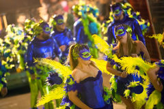 Carnaval at Sitges in night Royalty Free Stock Image