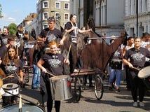 Carnaval-slagwerkers Stock Afbeelding