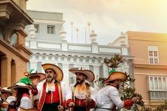 Carnaval in Spanje in bewolkt weer Stock Foto's