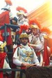 Carnaval in Spanje in bewolkt weer Royalty-vrije Stock Fotografie