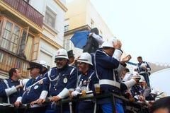 Carnaval in Spanje in bewolkt weer Stock Foto