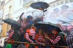 Carnaval in Spanje in bewolkt weer Royalty-vrije Stock Afbeelding