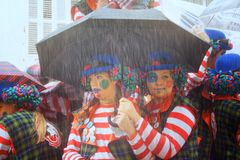 Carnaval in Spanje in bewolkt weer Royalty-vrije Stock Foto's