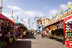 Carnaval-spelen bij de markt Stock Foto