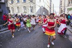 Carnaval tijdens protest, Valparaiso Stock Afbeeldingen