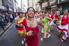 Carnaval tijdens protest, Valparaiso Royalty-vrije Stock Afbeeldingen