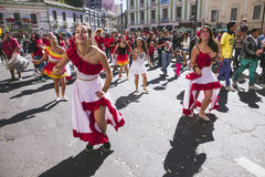 Carnaval tijdens protest, Valparaiso Stock Fotografie
