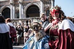Carnaval tradicional 2017 de Venecia imágenes de archivo libres de regalías
