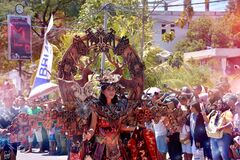 Carnaval with traditional contemporary clothes in Indonesia