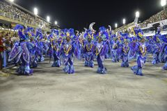 Carnaval 2018 - Unidos DE Padre Miguel stock foto's