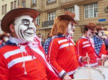 Carnaval van Bazel - Amerikaan stock afbeeldingen