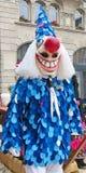 Carnaval van Bazel - Kostuumblauw stock afbeelding