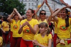 Carnaval van culturen in Berlijn Stock Fotografie