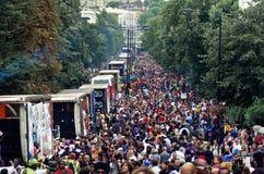 Carnaval van de Heuvel van Notting in West-Londen, het UK Royalty-vrije Stock Foto