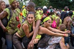 Carnaval van de Heuvel van Notting in West-Londen, het UK Royalty-vrije Stock Afbeeldingen