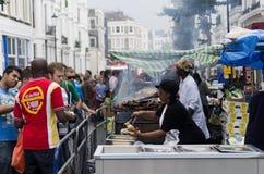 Carnaval van de Heuvel van Notting in West-Londen, het UK Royalty-vrije Stock Fotografie