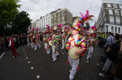 Carnaval van de Heuvel van Notting in West-Londen, het UK Stock Afbeelding