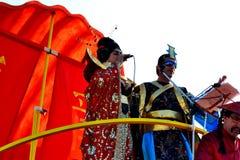 Carnaval van de Koning en de Koningin van figueiraDA Foz Stock Foto