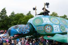 Carnaval van de parade van het reuzenfestival in Telford Shropshire Royalty-vrije Stock Foto