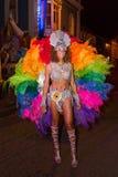 Carnaval van de zomer in Mindelo, Kaapverdië stock foto's