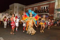 Carnaval van de zomer in Mindelo, Kaapverdië Royalty-vrije Stock Foto's