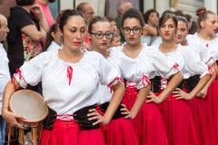 Carnaval van Polizzi Genersosa stock afbeelding