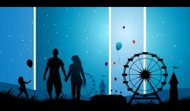 Carnaval van Pret vector illustratie